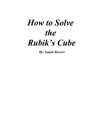 How-To-Solve-A-Rubiks-Cube