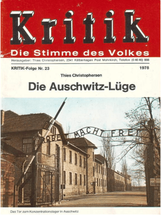 Christophersen Thies - Die Auschwitz-Lüge