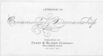 Zaner - Lessons in Ornamental Penmanship