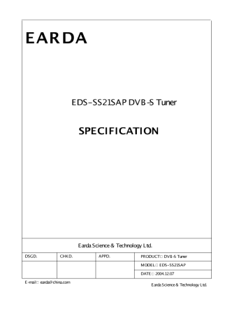 DataSheet model EDS-SS21SAP