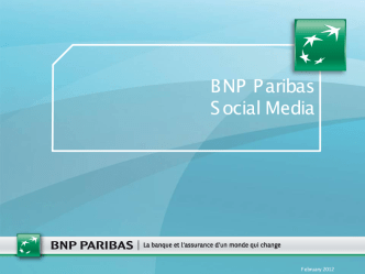 BNP Paribas - Engaging with customers effectively across multiple social media channels