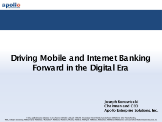 Driving mobile and internet banking forward in the digital era