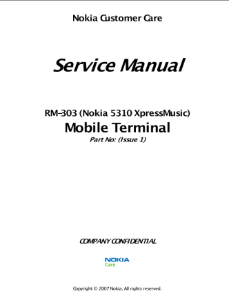 Nokia 5310 XpressMusic Service Manual L3&L4 v1.0