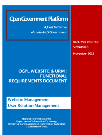 OGPL FRD - Website, CMS and VRM