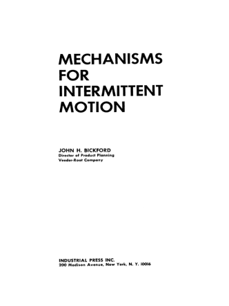 [John H. Bickford] Mechanisms for Intermittent Mot(BookFi.org)