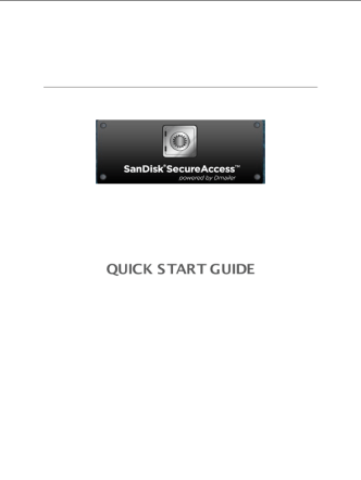 SanDiskSecureAccess QuickStartGuide Win