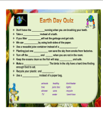 Earth Day Quiz