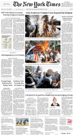 The New York Times - Saturday, September 15, 2012
