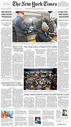 The New York Times - Saturday, August 18, 2012