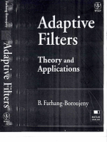 Adaptive Filters - Theory And Application With Matlab Exercises. B. Farhang-Boroujeny. 1998. ISBN 0-471-98337-3