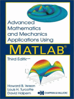 Advanced Mathematics & Mechanics Applications using MatLab. 3rd Ed. 2003