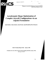 Reuther J., Jameson A., Farmer J., Martinelli L., Saunders D. Aerodinamix Shape Optimization of Complex Aircraft Configurations 1996