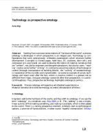 Technology as prospective ontology - Arie Rip - Synthese 2009 168 405–422