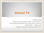 Social project  School TV -English