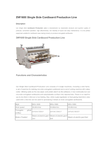 DW1600 Single Side Cardboard Production Line