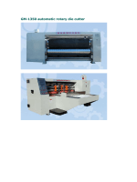 GM-1350 automatic rotary die cutter