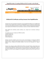 All about WildCard SSL Certificate from RapidSSLOnline.com