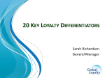 Top 20 success differentiators to enhance customer loyalty