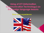 Using of ICT (Information Communication Technology)