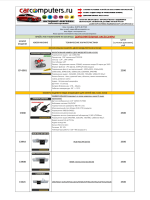 Dop.accessorize Price-list (Carcomputers.ru)