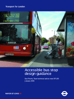 accessibile bus stop design guidance