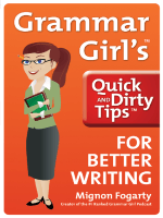 grammar girl for better writing by mignon fogarty