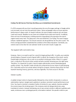 Finding The SEO Service That Does Not Blow up on Embellished Commitments