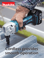 Cordless provides smooth operation