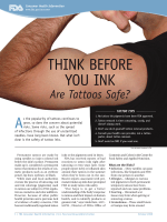 Think Before You Ink - Food and Drug Administration