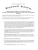 our complete tattoo aftercare sheet - Tattoo Lous