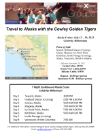 Travel to Alaska with the Cowley Golden Tigers - Cowley College