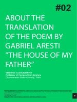 ABOUT THE TRANSLATION OF THE POEM BY GABRIEL  - Raco