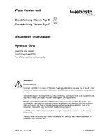 Water-heater unit Installation instructions Hyundai Getz