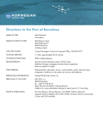 Directions to the Port of Barcelona - Norwegian Cruise Line