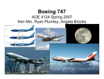 Boeing 747 - AOE - Aerospace and Ocean Engineering