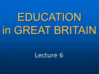 EDUCATION in GREAT BRITAIN - Wikispaces