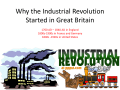 Why the Industrial Revolution Started in Great Britain - Great Valley