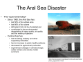 The Aral Sea Disaster