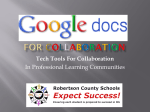 Google Docs For Collaboration - Robertson County Schools