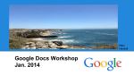 Google Docs Workshop Jan. 2014 - Sophia