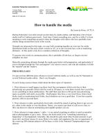 How to handle the media - Australian Flying Disc Association (AFDA)
