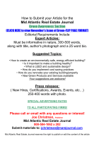 How to Submit your Article for the - Mid Atlantic Real Estate Journal