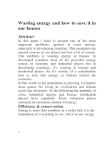 Wasting energy and how to save it in our houses - Planet Earth