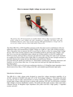 How to measure hight voltage on your survey meter