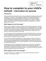 How to complain to your child school - information for parents