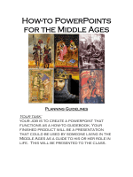 How-to PowerPoints for the Middle Ages