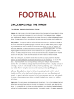 HOW TO THROW A FOOTBALL - TeacherWeb