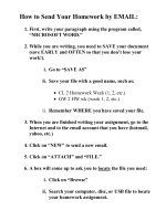 How to Send Your Homework by EMAIL: - ELI Wiki