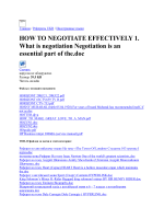 HOW TO NEGOTIATE EFFECTIVELY 1. What is negotia скачать