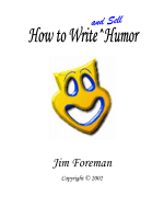 HOW TO WRITE HUMOR - Jim Foreman Bicycle Touring Tales